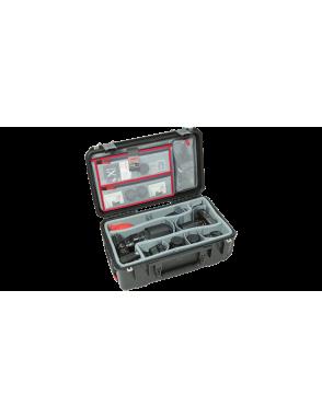 SKB® Case Resina Video 3i-0705-3 con Divisores con Ruedas