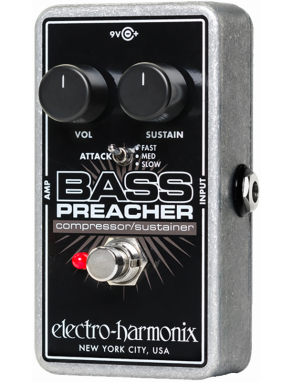 Electro-Harmonix® Pedal Bajo BASS PREACHER Compressor Sustainer