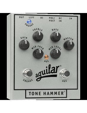 Aguilar® Pedal Bajo PreAmp Tone Hammer® 25 Aniversario Silver