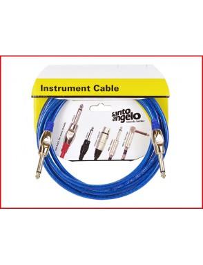 Santo Angelo® ANGEL Cable Instrumento Crystal Plug Recto 1/4'' - Recto 1/4'' OFHC