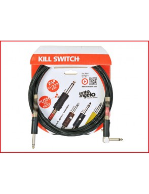 Santo Angelo® KILL SWITCH Cable Bajo Plug Recto 1/4'' - Angulado 1/4'' OFHC con Mute