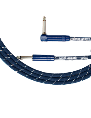 "Santo Angelo® Cable Instrumentos Haramaki Plug ¼"" Recto a Plug ¼"" 90° OFHC Largo: 3.05 mts AMNI® VIRUS-BAC OFF"