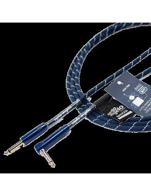 "Santo Angelo® Cable Instrumentos Haramaki Plug ¼"" Recto a Plug ¼"" 90° OFHC Largo: 4.57 mts AMNI® VIRUS-BAC OFF"