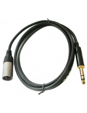 Rean by Neutrik® NRA0050015 Cable XLR Macho a Plug 1/4 TRS 1.5 Mts