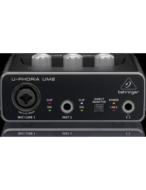 Behringer Interfaz Audio U-PHORIA UM2 Audiophile 2x2 USB