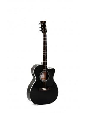 Sigma® Guitarra Folk E/A Thin 000MC-1STE-BK+ Fishman®Isys+