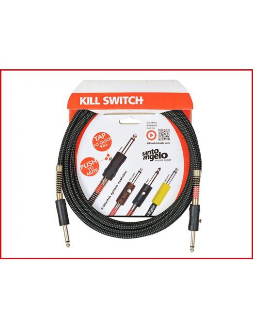 Santo Angelo® KILL SWITCH Cable Bajo Plug Recto 1/4'' - Recto 1/4'' OFHC con Mute