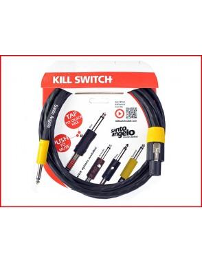 Santo Angelo® Cable Cabezal-Gabinete OFHC Plug Recto 1/4'' - Speakon