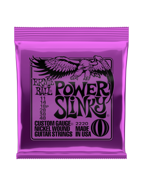 Ernie Ball® Cuerdas Guitarra Eléctrica 2220 POWER SLINKY NICKEL 11-48