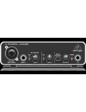 Behringer Interfaz Audio U-PHORIA UMC22 Audiophile 2x2 USB
