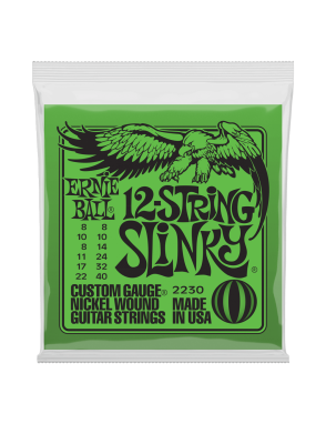 Ernie Ball® Cuerdas Guitarra Eléctrica 12 Cuerdas 2230 Slinky 8-40