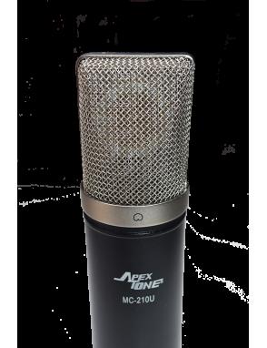 ApexTone® Micrófono Estudio MC-210-U Condensador Kit: Araña y Funda
