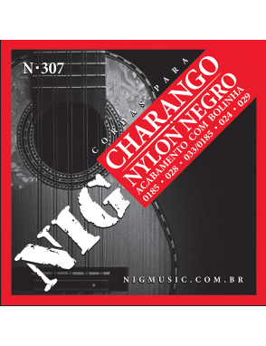 NIG® Cuerdas Charango N307 18.5-28 Nylon White Ball End