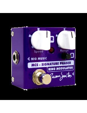 NIG® Pedal Efectos Guitarra Eléctrica MCS Signature Micro Cacau Santos Phaset & Ring