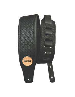 BASSO Correa Guitarra CLASSIC 15 Negro Trenzado 7,5 cm