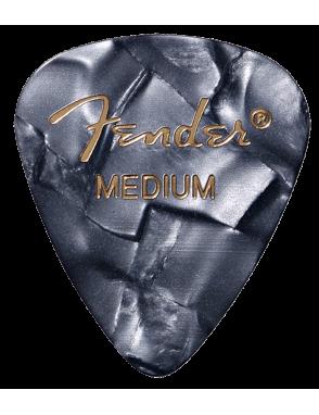 Fender® Uñetas Celuloide 351 Shape Premium Calibre: Medium Color: Black Moto Pack: 12 Unidades