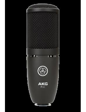 AKG® Micrófono Condensador P120 Cardioide Atenuador Pad 20dB