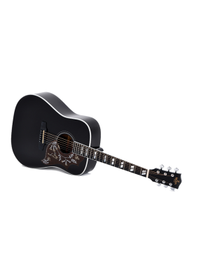 Sigma® Guitarra Electroacústica Dreadnought DM-SG5-BK Fishman® Black