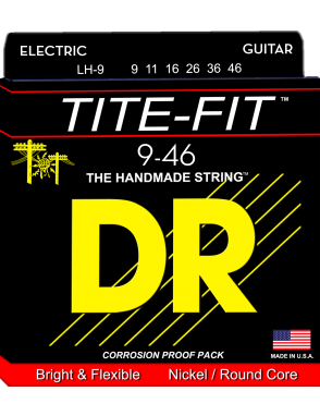 DR Cuerda Guitarra Eléctrica 6 Cuerdas TITE-FIT™ Light-Heavy 9-46
