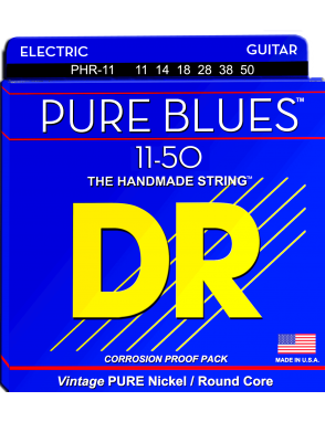 DR Cuerda Guitarra Eléctrica 6 Cuerdas PURES BLUES™  PHR-10 Medium 10-46