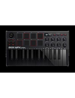 AKAI® Pro Controlador MIDI MPK MINI MK3 Black 25 Teclas 8 Pads