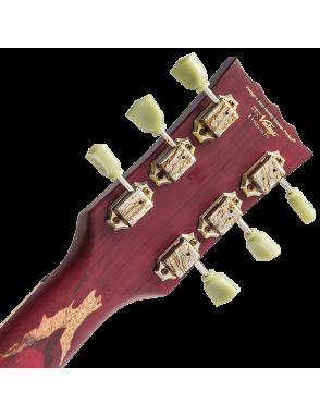 Vintage® Guitarra Eléctrica VS6 Icon Distressed Gastadas Color: Cherry Red