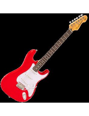 Encore® Guitarra Eléctrica E6 Vibrato Color: Gloss Red