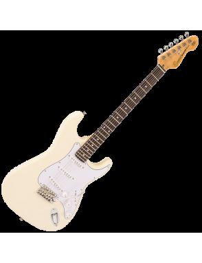 Encore® Guitarra Eléctrica E6 Vibrato Color: Vintage White