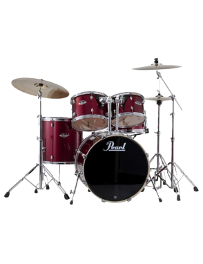 Pearl® Batería Acústica Set EXPORT EXX725P/C Set: 5 Piezas - Hardware Color: Burgundy
