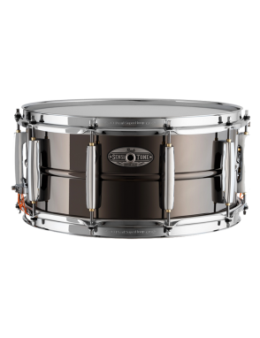 "Pearl® Caja Batería SensiTone Brass Custom Alloy 14x6.5"" Black Nickel Plated"