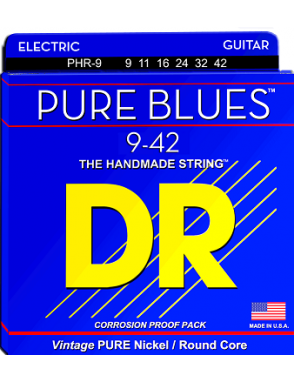 DR Cuerda Guitarra Eléctrica 6 Cuerdas PURES BLUES™ PHR-9 Light 9-42
