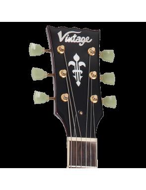 Vintage® Guitarra Eléctrica serie V100 Color: Wine Red