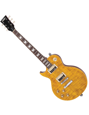 Vintage® Guitarra Eléctrica serie LV100AFD Zurdo Color: Flamed Amber