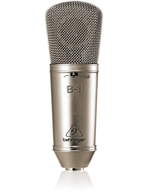 Behringer® Micrófono Estudio B-1 Condensador Diafragma Grande Pack: Case Araña Antipop