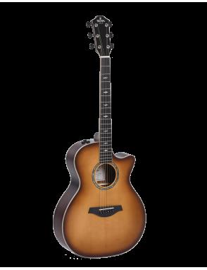 Sigma® Guitarra Eléctroacústica Folk Grand OM Sunburst