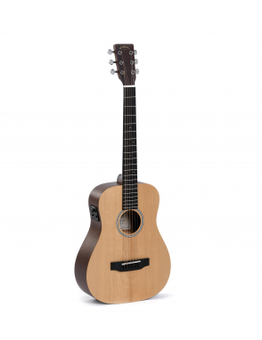 Sigma® Guitarra E/A Travel TM-12E+ Fishman®Isys+ C/Funda