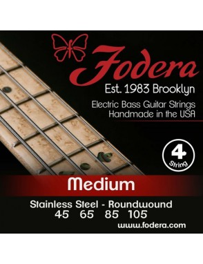 Fodera® Cuerda Bajo Eléctrico 4 Stainless Steel Medium 45 - 105