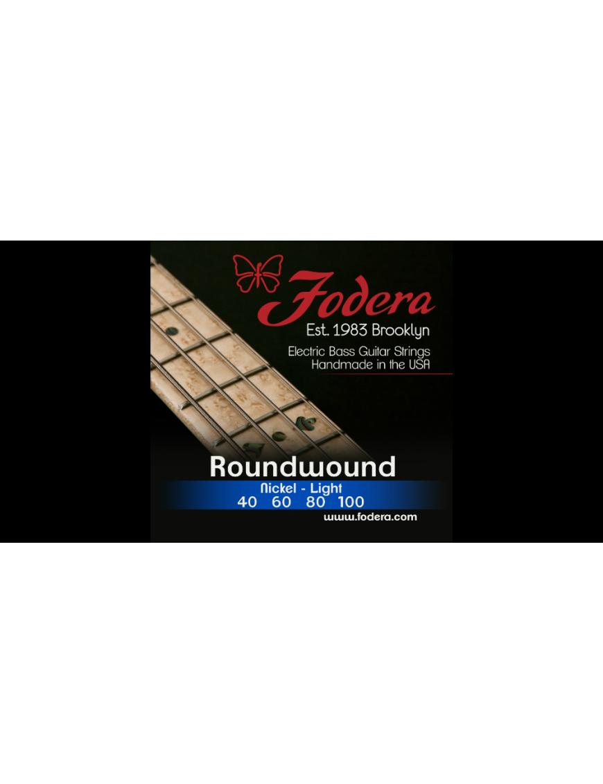 Fodera® Cuerda Bajo Eléctrico 4 Cuerdas Nickel Light 40 - 100