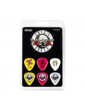 Dunlop® Uñetas GNR001 Guns N Roses Medidas: Varias Blister: 6 Unidades