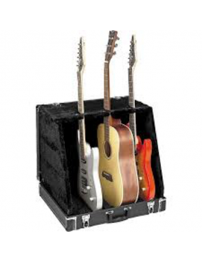 ApexTone® Atril Case Guitarra Stage 3 Guitarras Negro
