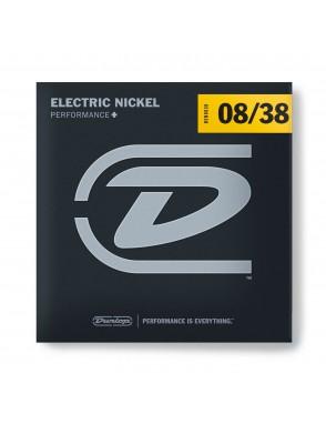 Dunlop® Cuerdas Guitarra Eléctrica 6 Cuerdas DEN 08-38 Performance+ Extra Light