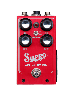 Supro® Pedal Guitarra Delay Análogo