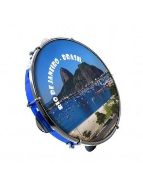"""Luen® Pandeiro 10"""" Azul Rio de Janeiro"""