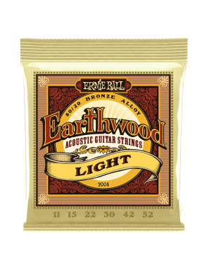 Ernie Ball® Cuerdas Guitarra Acústica 6 Cuerdas 2004 Earthwood Bronze 80/20 Light 11-52