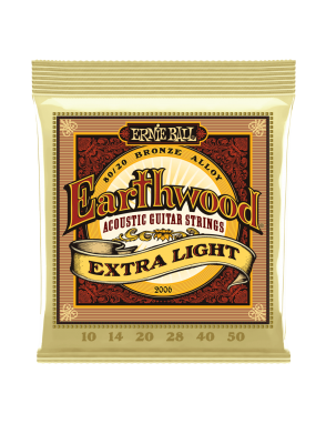 Ernie Ball® Cuerdas Guitarra Acústica 6 Cuerdas 2006 Earthwood Bronze 80/20 Extra Light 10-50