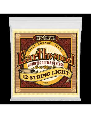 Ernie Ball® Cuerdas Guitarra Acústica 12 Cuerdas 2010 Earthwood Bronze 80/20 Light 9-46