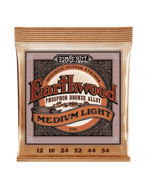 Ernie Ball® Cuerdas Guitarra Acústica 6 Cuerdas 2146 EARTHWOOD PHOSPHOR BRONZE Medium Light 12-54