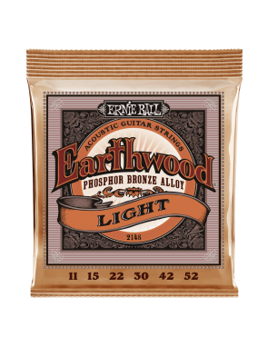 Ernie Ball® Cuerdas Guitarra Acústica 6 Cuerdas 2148 EARTHWOOD PHOSPHOR BRONZE Light 11-52
