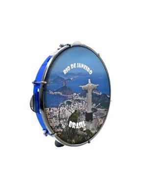 """Luen® Pandeiro 10"""" Azul Rio de Janeiro 2"""