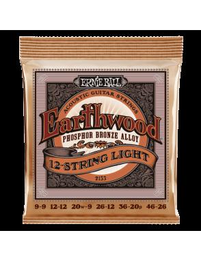 Ernie Ball® Cuerdas Guitarra Acústica 12 Cuerdas 2153 EARTHWOOD PHOSPHOR BRONZE Light 9-46